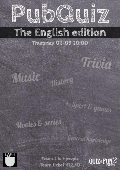 Pubquiz in English | October